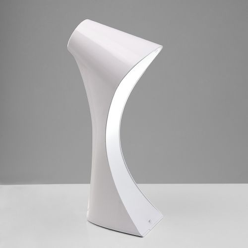 Mantra M1546 Ora Table Lamp 1 Light White Gloss Acrylic Polished Chrome