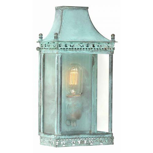 Elstead Solid Brass Outdoor Wall Lantern Regents Park Verdi