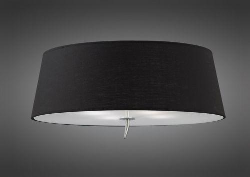 Mantra M1909 BS Ninette Flush Ceiling Fitting 4 Light Polished Chrome Black Shade