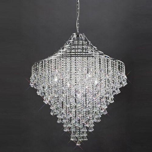Diyas Inina 9 Light Pendant  Polished Chrome/Crystal IL30773