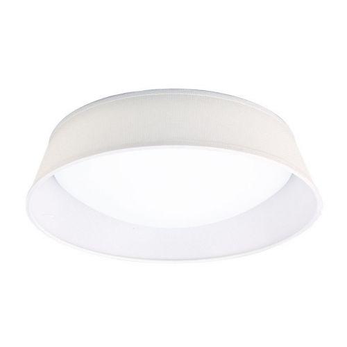 Mantra M4961E Nordica 3 Light Flush Ceiling Fitting 45cm White Acrylic Ivory White Shade