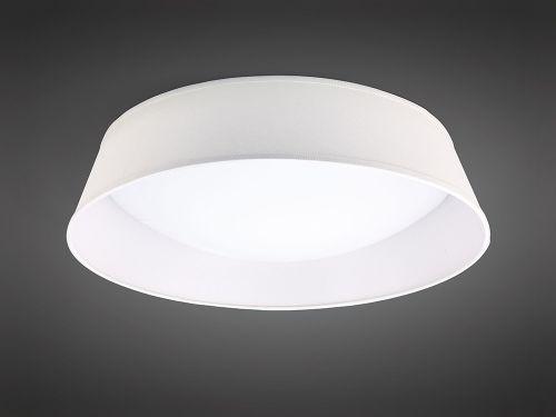 Mantra M4962E Nordica 5 Light Flush Ceiling Fitting 60cm White Acrylic Ivory Shade