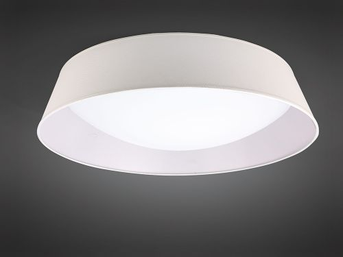 Mantra M4963 Nordica Flush Ceiling Fitting 60W LED 90cm White Acrylic Ivory Shade