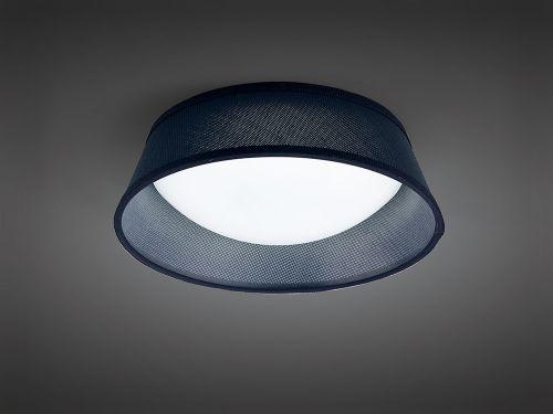 Mantra M4964E Nordica Ceiling Light Fitting E27 32cm White Acrylic Black Shade
