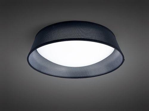 Mantra M4965 Nordica Flush Ceiling Fitting 21W LED 45CM White Acrylic Black Shade