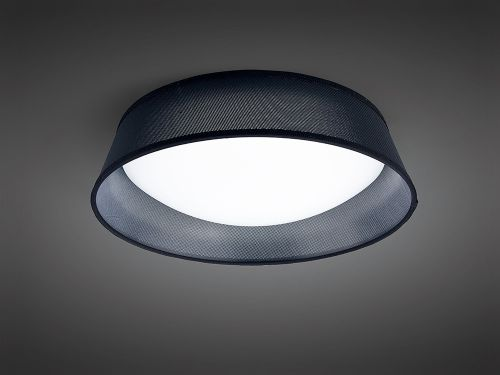 Mantra M4965E Nordica 3 Light Flush Ceiling Fitting 45CM White Acrylic Black Shade