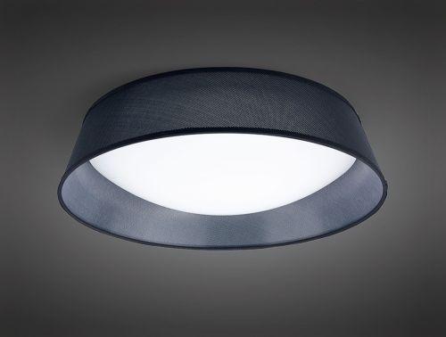 Mantra M4966 Nordica Flush Ceiling Fitting 30W LED 60CM White Acrylic Black Shade