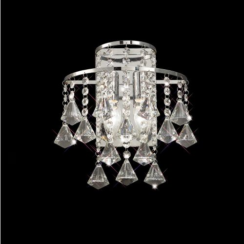Diyas Inina 2 Light Switched  Wall Lamp Switched  Polished Chrome/Crystal IL30774