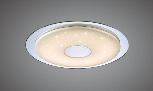 Mantra M5110 Virgin Flush 45cm Round 18W LED 2700-6500K 1680lm Remote Silver Frosted Acrylic Polished Chrome