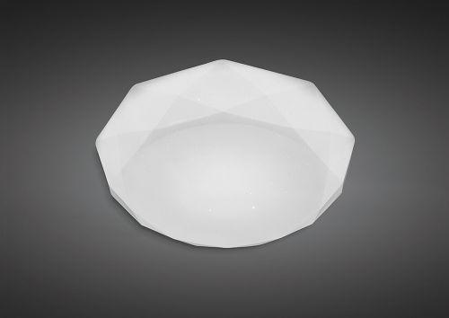 Mantra M5111 Diamante Ceiling Light Fitting 21W LED 3000K 2100lm White Acrylic
