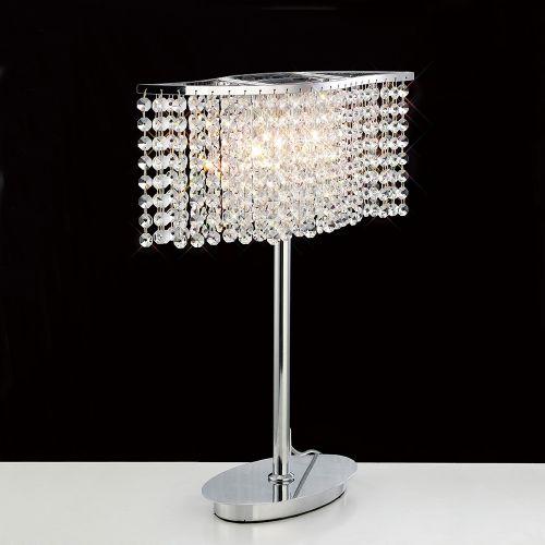 Diyas IL30575 Fabio Table Lamp 2 Light Polished Chrome Crystal