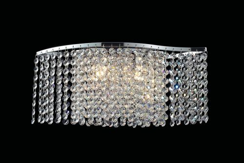 Diyas IL30571 Fabio Wall Lamp Switched 2 Light Polished Chrome Crystal