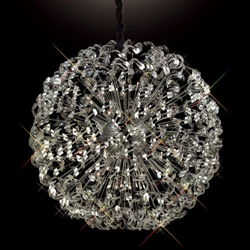 Diyas Esme 54 Light Pendant  Polished Chrome/Crystal IL30557