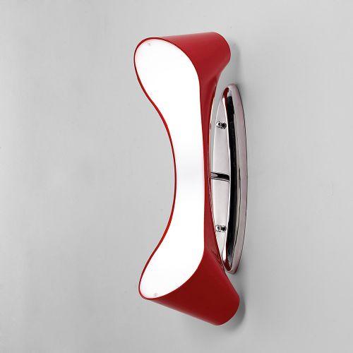 Mantra Ora 2 Light Low Energy Red Semi-Flush Ceiling/Wall Light M1564