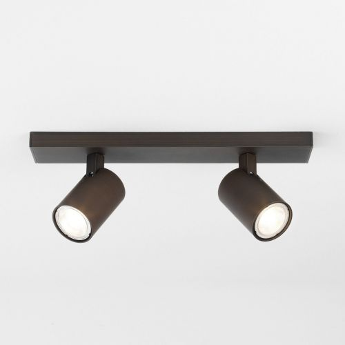 Astro 6160 Ascoli 2Lt Bronze Ceiling Twin Spotlight Bar