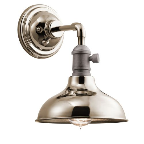 Kichler KL/COBSON1 PN Cobson 1Lt Polished Nickel Wall Light
