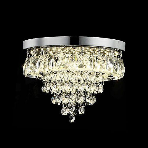 Impex LED608243/01/L/PL/CH Essonne LED Chrome Ceiling Flush