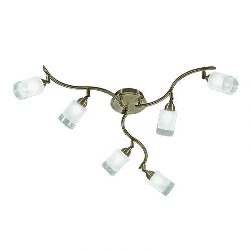 Ceiling Spotlight 6 Light Satin Bronze Offica LEK62382
