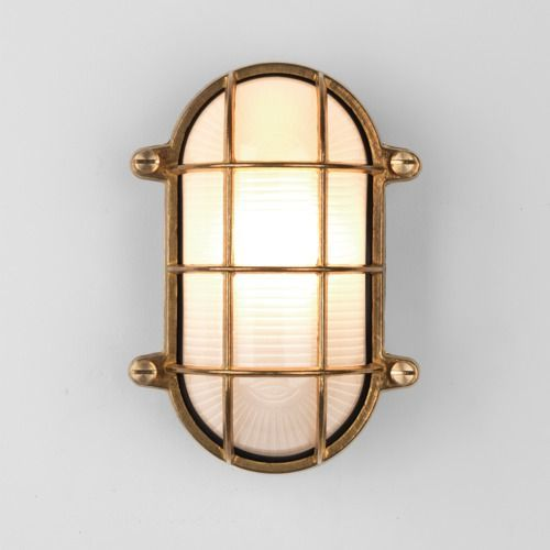 Astro Thurso 78811 Light Flush Natural Brass Outdoor Wall Light