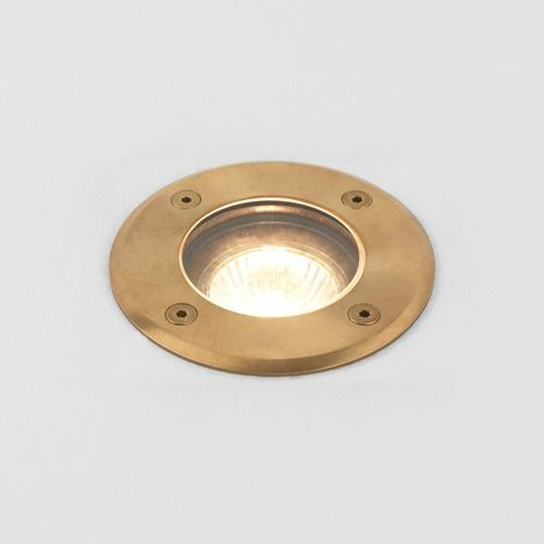 Astro Gramos 1312005 Single Outdoor Ground Light Natural Brass