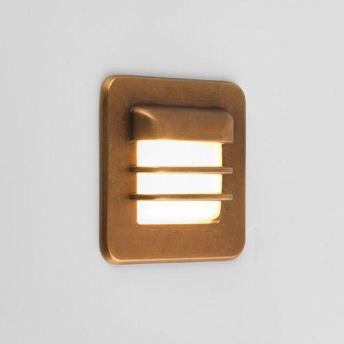 Astro Arran 1379001 1 Light LED Wall Light Antique Brass Outdoor Fitting