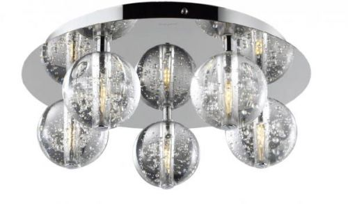 Avivo Bubbles FX1302-5B CH/CL 5 Light Flush Chrome Clear Glass Ceiling Fitting