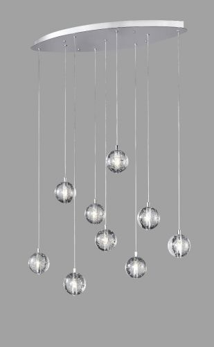 Avivo Bubbles PD1302-9B CH/CL 9 Light Pendant Chrome Clear Glass Ceiling Fitting