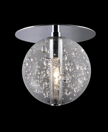 Avivo Bubbles RX1302-1A CH/CL 1 Light Flush Chrome Clear Glass Ceiling Fitting