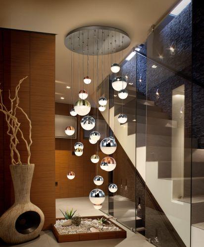 Schuller Sphere 793960 LED 27 Light Ceiling Cluster Pendant 3 Metre Drop Multicoloured