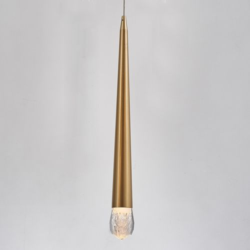 Avivo Droplet PD2309-1A B 1 Light LED Pendant Brass Ceiling Fitting