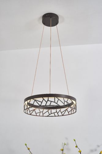 Avivo Mosaic PD18022-40-1A CB 1 Light LED Pendant Coffee Black Ceiling Fitting