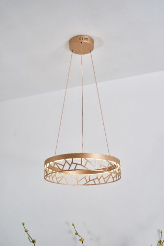 Avivo Mosaic PD18022-40-1A MG 1 Light LED Pendant Matte Gold Ceiling Fitting