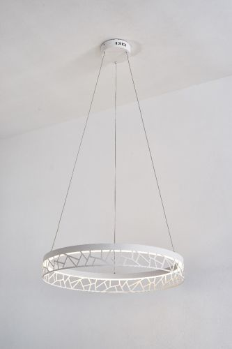 Avivo Mosaic PD18022-60-1A MW 1 Light LED Pendant Matte White Ceiling Fitting