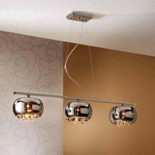 Schuller Argos 509213 Bar Ceiling Pendant 3 Light Chrome