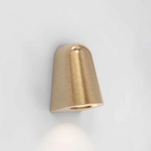 Astro Mast 1317005 1 Light Spotlight Brass Coastal Outdoor Wall Light