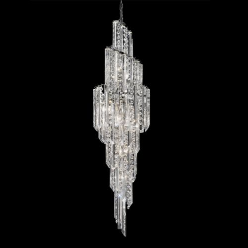 Spiral Crystal Chandelier Polished Chrome Ravenna LEK61493