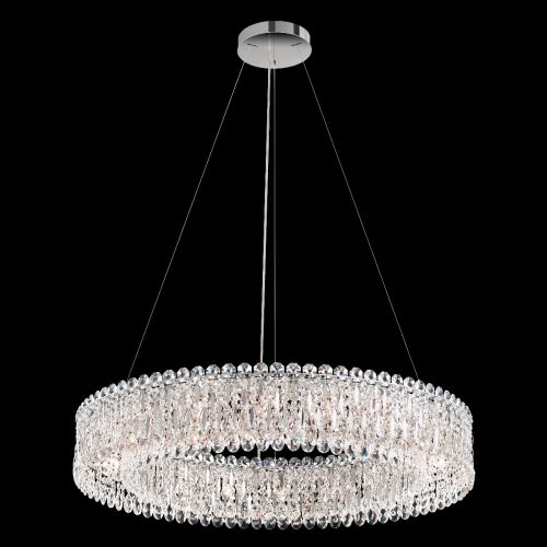 Schonbek Sarella RS8349 18 Light Pendant Heritage Crystal Steel Ceiling Fitting