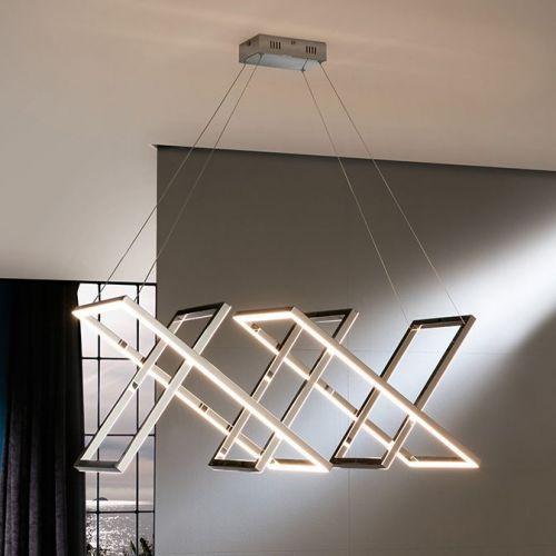 Schuller Limus 753321 LED 5 Light Ceiling Pendant Stainless Steel