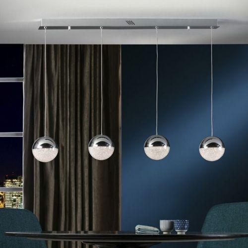 Schuller Sphere 793635 LED 4 Light Ceiling Bar Pendant 1.2 Metre Drop Chrome