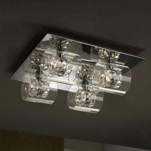 Schuller Flash 391540 Ceiling Flush 4 Light Chrome