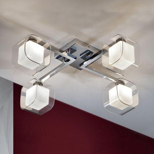 Schuller Cube 183320 Ceiling Flush 4 Light Chrome