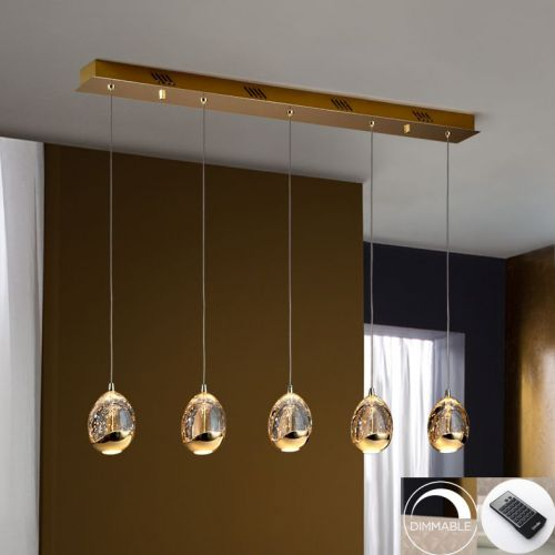 Schuller Rocio 783627D LED Bar Ceiling Pendant 5 Light Gold