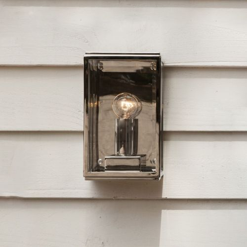 Astro Homefield-130 1095014 Single Outdoor Wall Light Polished Nickel