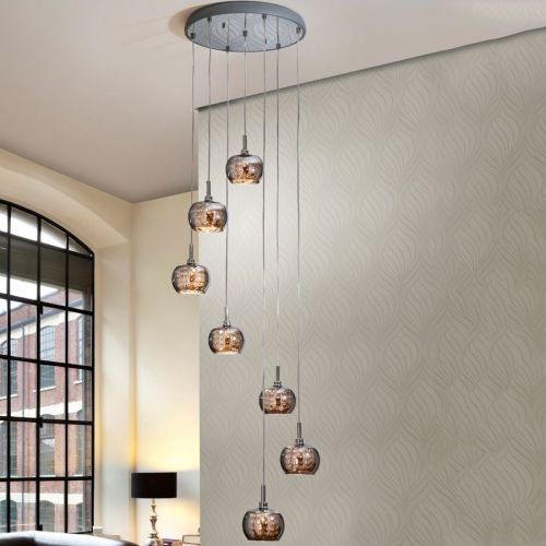 Schuller Arian 193453 Ceiling Pendant 7 Light Steel
