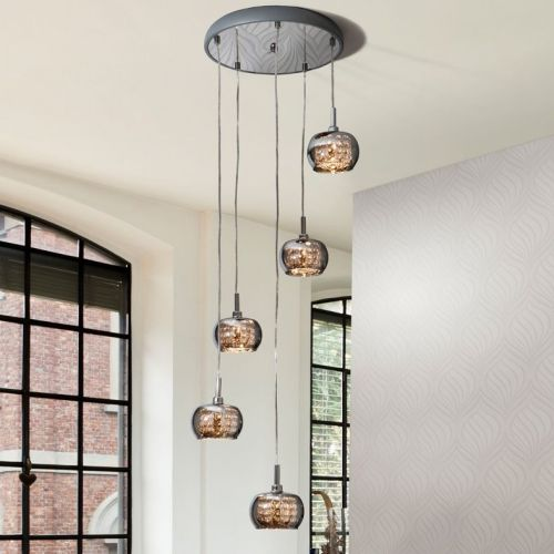Schuller Arian 193364 Ceiling Pendant 5 Light Steel