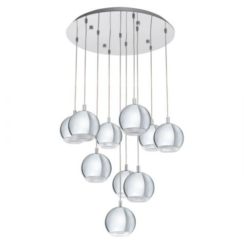 Eglo Conessa 95914 LED Ceiling Cluster Pendant 10 Light Chrome