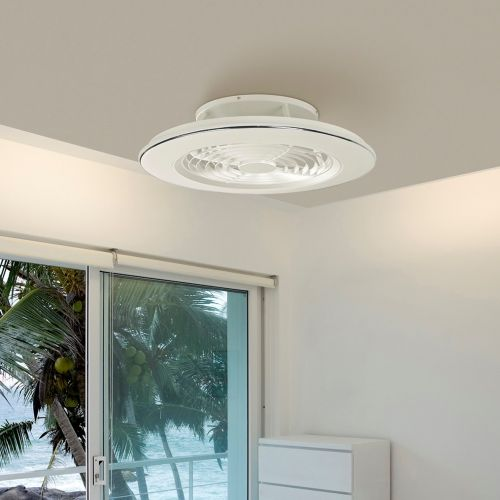 Mantra Alisio White Ceiling Fan LED Light Dimmable Remote Controlled M6705