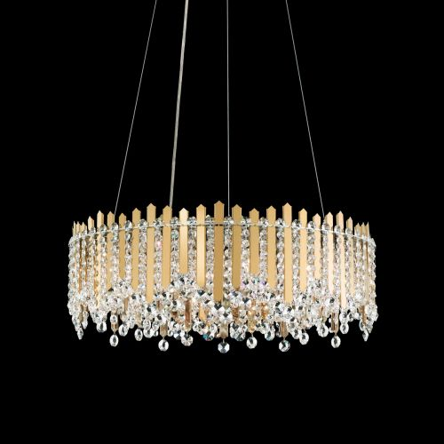 Schonbek MX8343 Chatter Crystal 12 Light Chandelier Gold Frame