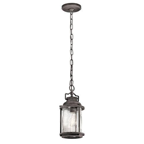 Kichler KL/ASHLANDBAY8/S Ashlandbay 1Lt Weathered Zinc Outdoor Lantern