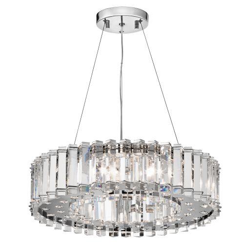 Kichler Crystal Skye Ceiling Fitting 8 Light LED Chrome Pendant IP44 KL/CRSTSKYE8